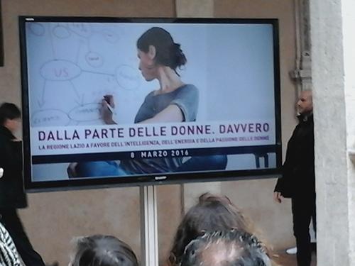 Premio Regione Lazio, 8 marzo 2016: Dalla parte delle donne