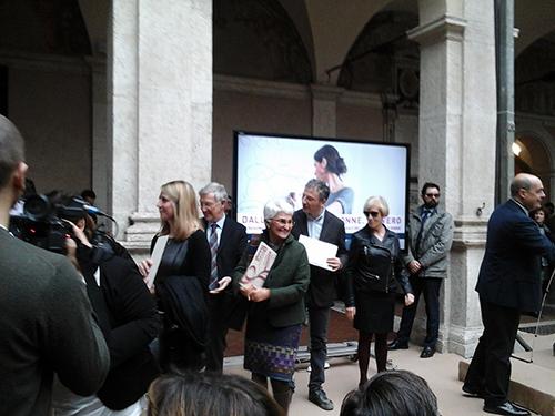Premio Regione Lazio, 8 marzo 2016: Marta ritira la targa