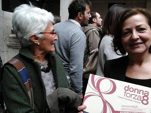 Premio Regione Lazio, 8 marzo 2016: Sonia e la sua targa